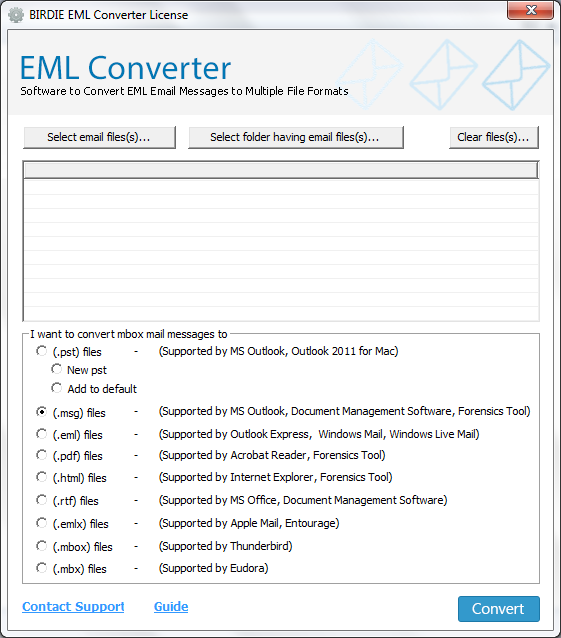 Birdie EML Converter full screenshot