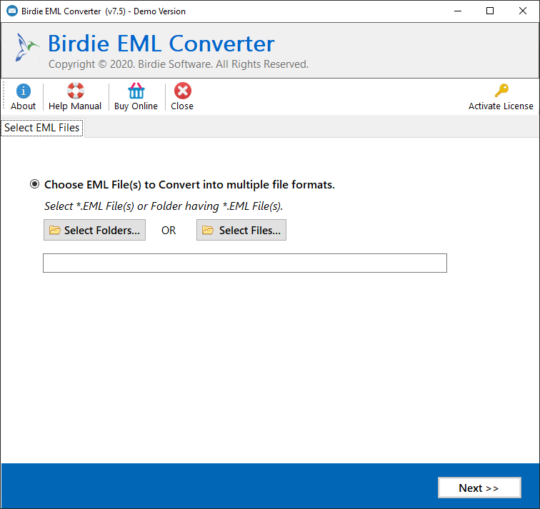 Launch EML Converter