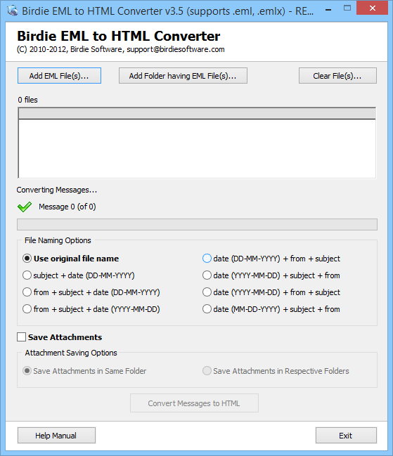 EML to HTML Converter