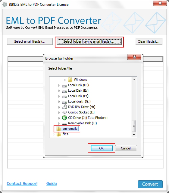 Steps to Convert EML Files to PDF