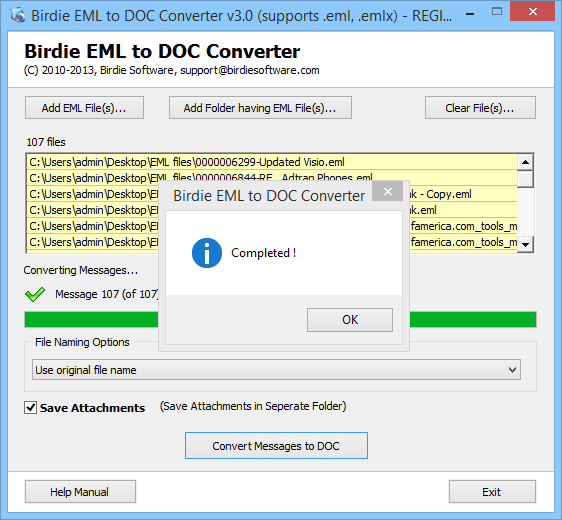 how to read eml files