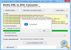 EML to DOC Conversion done