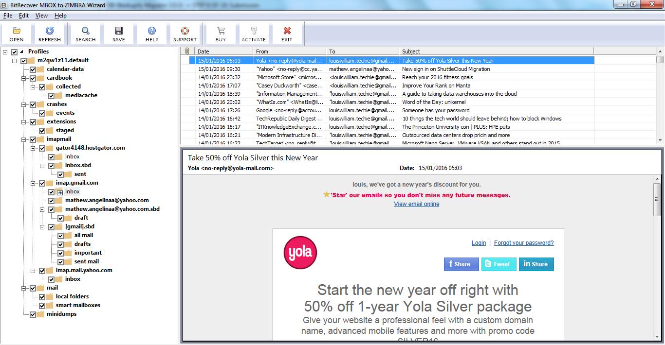 MBOX to Zimbra Conversion Tool to Import MBOX into Zimbra Dektop