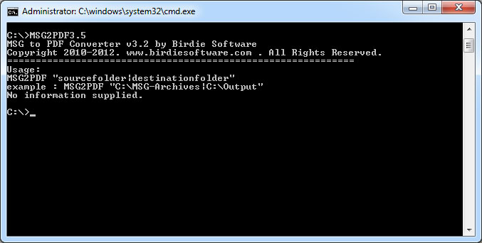 Download MSG to PDF Command Line Version