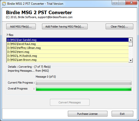 birdie msg to pst converter, msg to pst, convert msg to pst, msg to pst converter program, msg to pst converter free, msg 2 pst