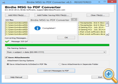 Easy conversion from EML format to PDF