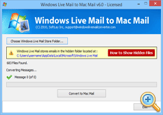 Start Conversion from Windows Mail to Mac Mail