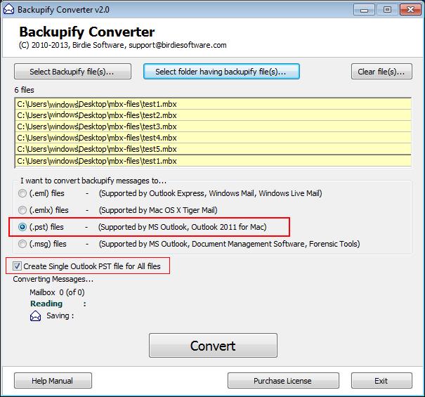 Convert multiple Eudora MBX files to PST, EML, EMLX