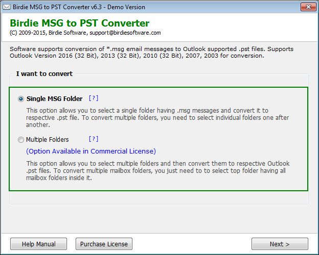 MSG to PST Converter Software